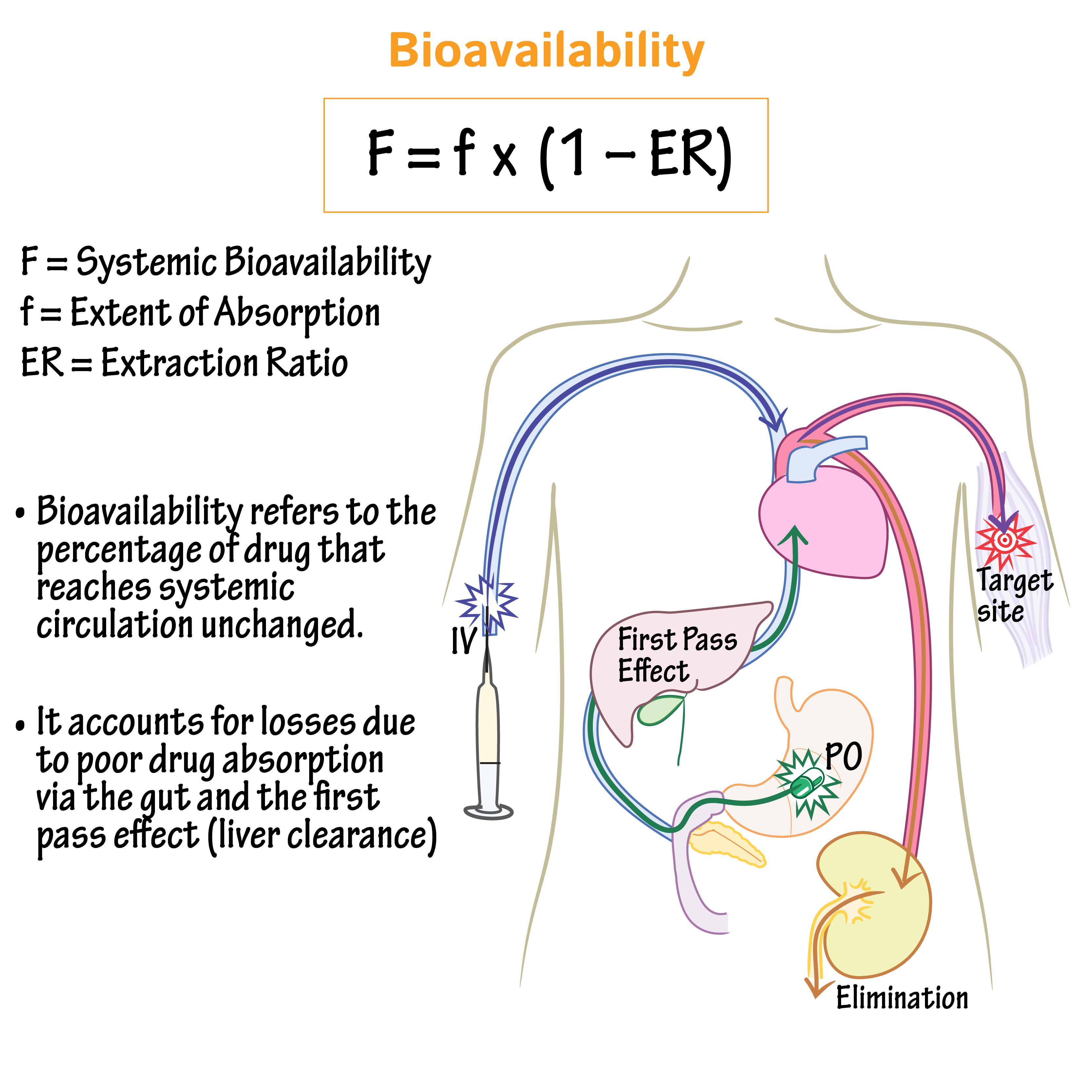 Pharmacology Glossary Bioavailability Draw It To Know It